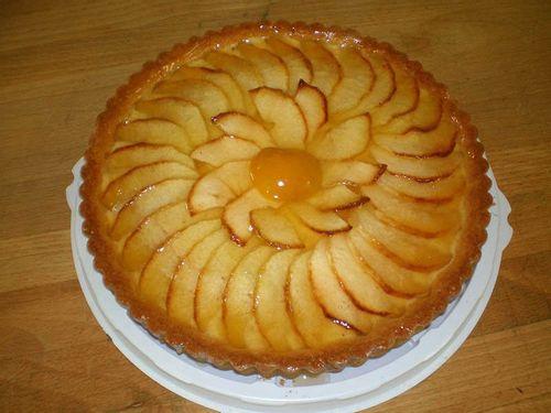 Пирог с яблоками открытый